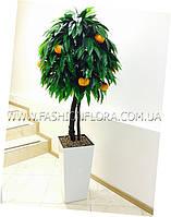 Искусственное Мандариновое дерево 180 см в белом вазоне