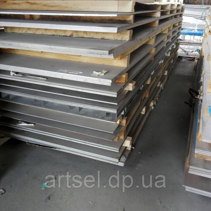 Лист нержавіючий 1 мм (1,5х3,0) 4N+PVC 430 шліфований