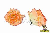 Цветы Розы Персиковые из ткани 10 см 1 шт