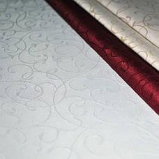 Тканина для Скатертин Вьюнок-150 (Рис.8) Біла з просоченням Тефлон 150см, фото 3