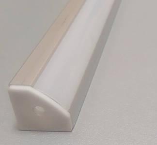 Профиль алюминиевый для светодиодной ленты или светодиодной линейки 1 и 2 м угловой