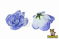 Цветы Розы Голубые из ткани 10 см 1 шт