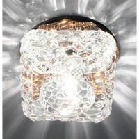 Декоративный точечный светильник Feron JD185 G9 прозрачный/ чайный