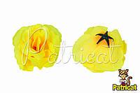 Цветы Розы Желтые из ткани 10 см 1 шт
