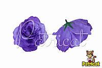 Цветы Розы Сиреневые из ткани 10 см 1 шт