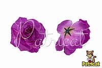 Цветы Розы Лиловые из ткани 10 см 1 шт
