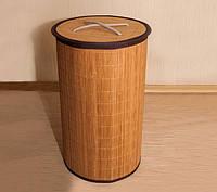 Бамбуковая корзина для белья