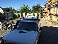 Экспедиционный багажник Корзина на крышу Нива 2121 на 6 креплений с листом алюминия