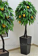 Искусственное Лимонное дерево 180 см в черном вазоне