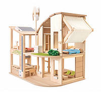 """Деревянная игрушка """"Зелёный кукольный домик с мебелью"""", PlanToys"""