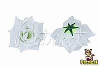 Цветы Розы Белые из ткани 9 см 1 шт