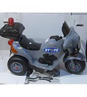 Электромобиль мотоцикл Ямаха детский аккумулятор Орион 372 Cерый