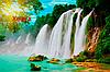 Фотообои Водопад с текстурами, фото 4