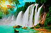 Фотообои Водопад с текстурами, фото 6