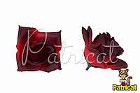 Цветы Розы Красные из ткани 9 см 1 шт