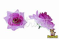 Цветы Розы Розовые из ткани 9 см 1 шт