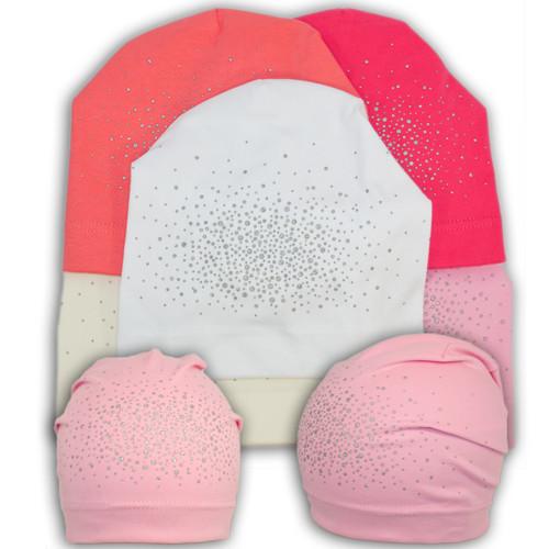 Трикотажная шапка для девочки с камнями