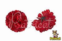 Цветы Хризантемы Красные из ткани 12 см 1 шт