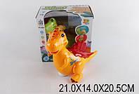 Муз.динозаврик 2801   2 цвета,  батар, в короб. 21-14-20,5см