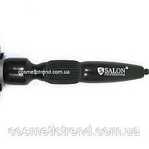 Щетка-брашинг для волос средняя керамическая с натуральной щетиной (со спицей) 2Q693CCM Salon Professional, фото 3