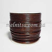 Шнур вощенный, 1м, толщина 1,5мм,  цвет коричневый