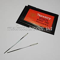Игла гобеленовая №22, для вышивки лентами и нитками