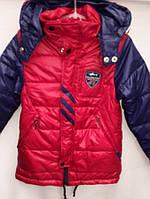 Осеняя курточка с капюшоном для мальчика красного цвета  4800