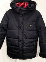 Зимняя куртка-жилет для мальчика с капюшоном