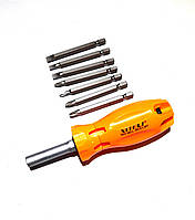 Отвертка со сменными насадками Xiteli Tools 0821