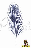 Лист-перо Сиреневый с глиттером (блестками) 1 шт