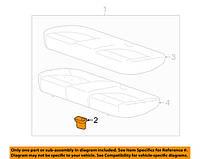 Кронштейн (клипса, фиксатор, крепление) подушки заднего сидения OPEL ADAM ASTRA-J CASCADA INSIGNIA VECTRA-C CHEVROLET CRUZE 12823465