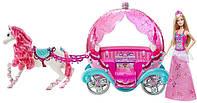 Красивый большой набор карета с лошадкой и куклой Барби, Оригинал из США