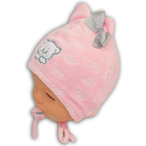 Велюровая шапка для мальчика