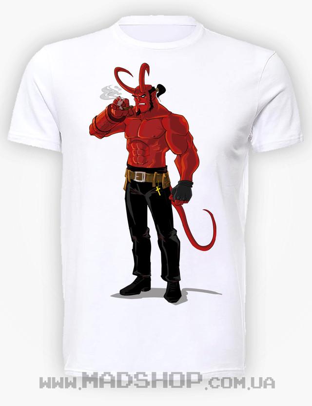Футболка Hellboy horns купить