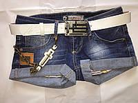 Шорты джинсовые темные короткие Liuzin 0805