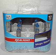 """Автомобильные галогенные лампы """"REALIGHT"""" (H1)(Mega White)(12V)(55W)"""