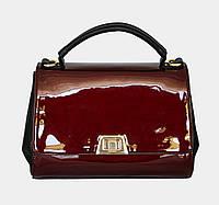 Женская лаковая сумка-саквояж 35291