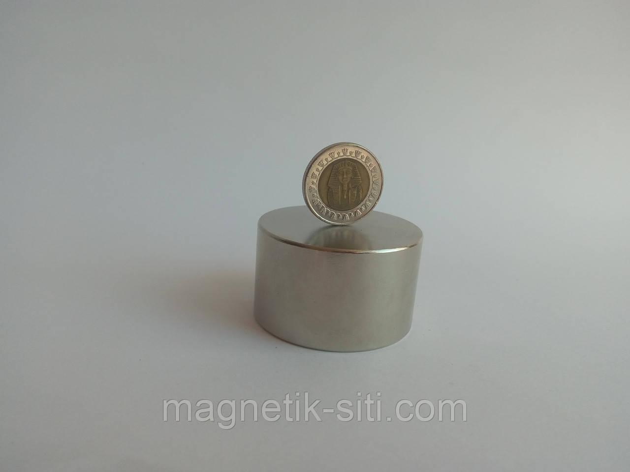 Магнит неодимовый 45*35 N42