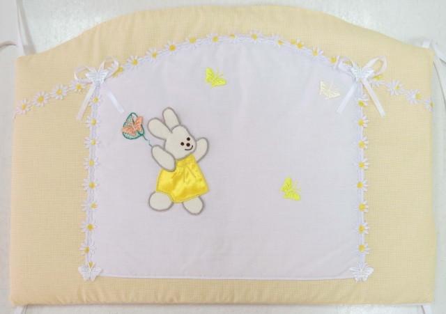 Детский постельный комплект «Ромашка» (Желтый, 6 элементов), EkoBaby