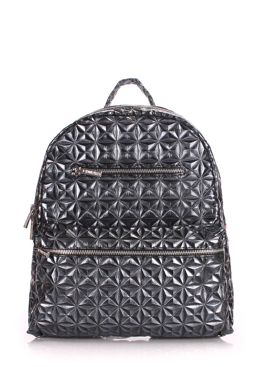 Рюкзак женский POOLPARTY mini-bckpck-mosaic-darksilver