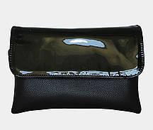 Женская лаковая сумка на три отделения А0424
