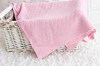 "Розовое вязаное одеяло ""Руан"""