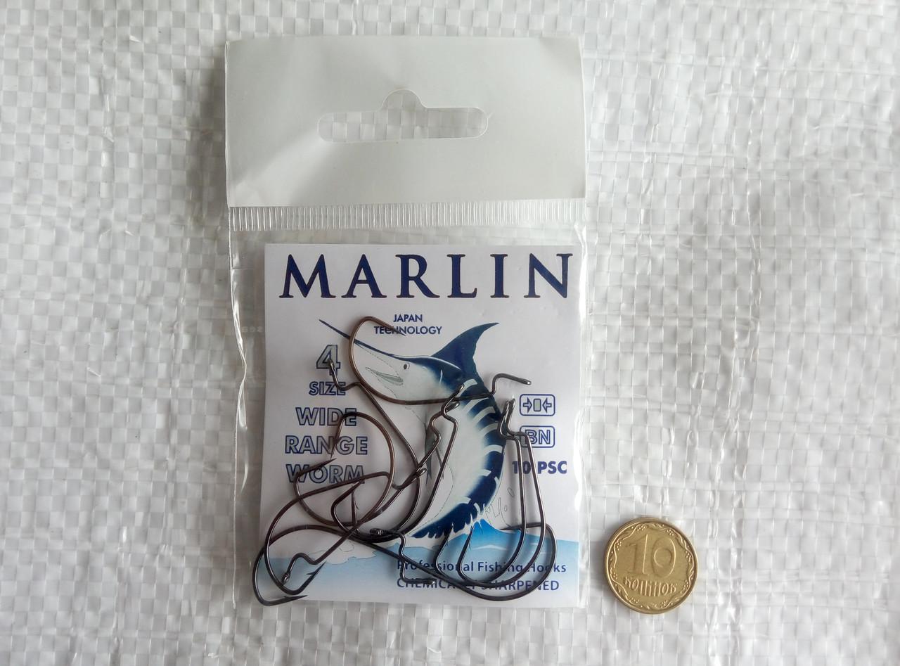 Крючки Marlin Offset WORM №4