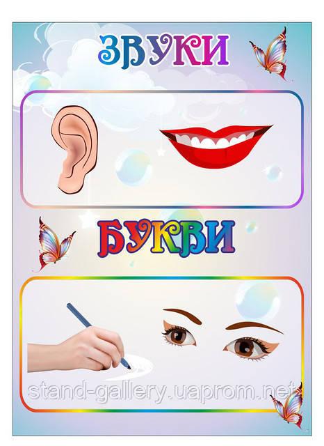 """Стенд для детского сада """"Звуки и буквы"""""""