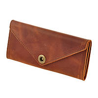 Женский кошелек на кнопке BlankNote 1.0 Коньяк