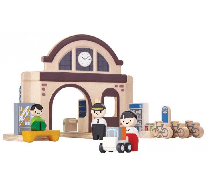 Деревянный игровой набор Plan Тoys Вокзал (6620)