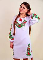 """Изысканное женское платье, вышитое крестиком """"Дубок"""", фото 1"""