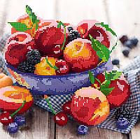 Схема для вышивки бисером POINT ART Персики, размер 25х25 см