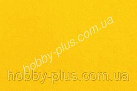 Фетр мягкий 1.4 мм, на клеевой основе, ЖЕЛТЫЙ, 20x30 см, Hobby&You