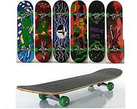 """Спортивный скейт """"PROFI"""". 80 х 20 см размер доски."""